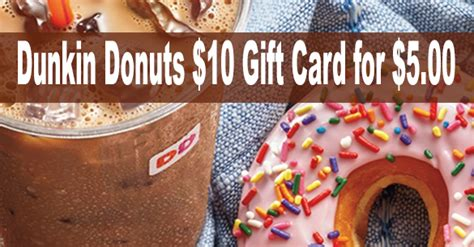 5 For A 10 Dunkin Donuts Gift Card - dunkin donuts coupon coupons 4 utah