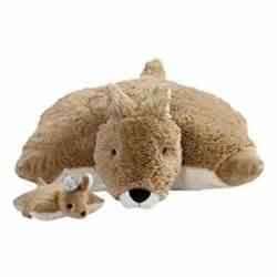my pillow pets kangaroo and baby plush toys