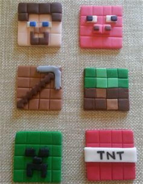 Fondant Cake Bisa Custom Model 6 fondant 2d minecraft cupcake toppers by jennyssweetkreations fondant gumpaste models