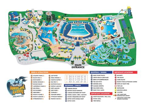six flags texas arlington map six flags hurricane harbor thrillz the ultimate theme park review site
