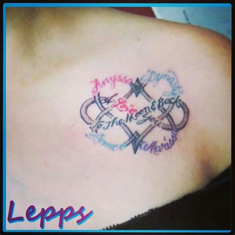 love tattoos with names my new dbl infinity symbol with my