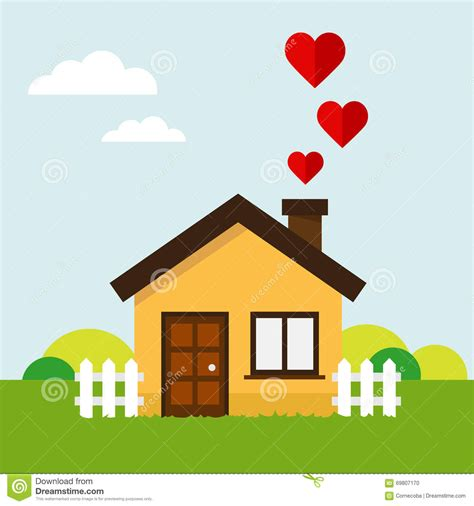 heart house love heart house stock vector image of energy environment 69807170
