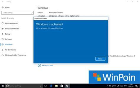 tutorial install windows 10 lengkap tutorial lengkap cara aktivasi windows 10 permanen winpoin
