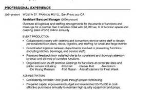 Banquet Manager by Resume Curriculumvitae