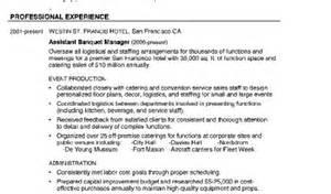 Banquet Manager Description by Banquets Resume