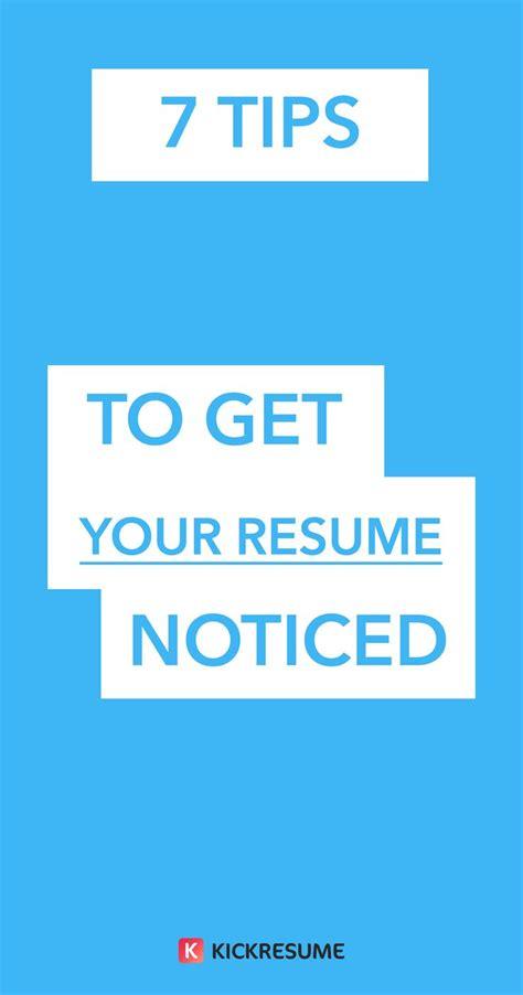 Resume Tips To Get An 7 best kickresume career images on resume