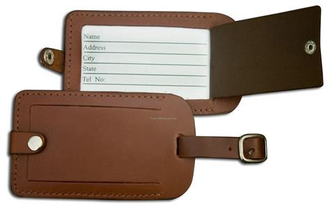 Leather Tag choosing the right luggage tag for travel