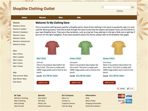 shopsite built in scoop template