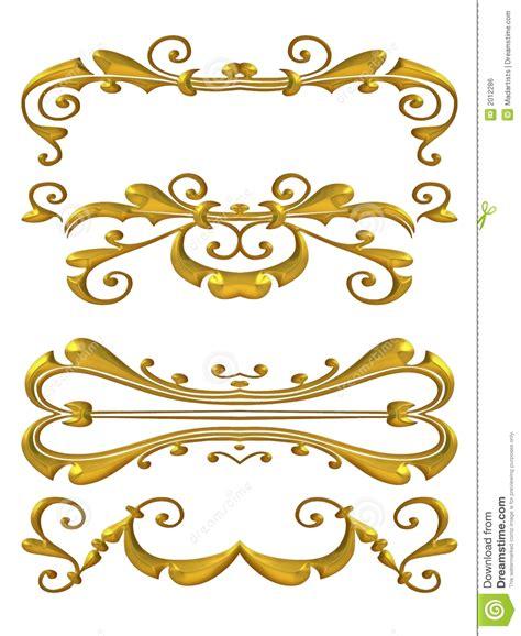 design gold free gold shiny flourish designs royalty free stock image