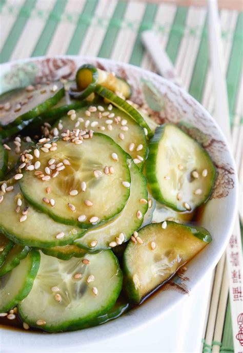 cucumber recipe cucumber salad recipe wonkywonderful