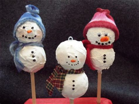 styrofoam snowman ornament craft make handmade xmas ornaments