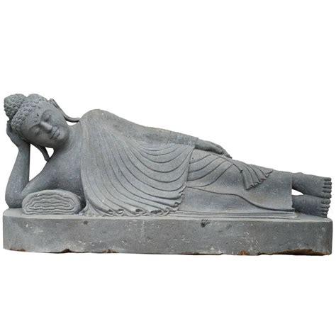 reclining buddha garden statue 20th century garden statue of a lava stone reclining