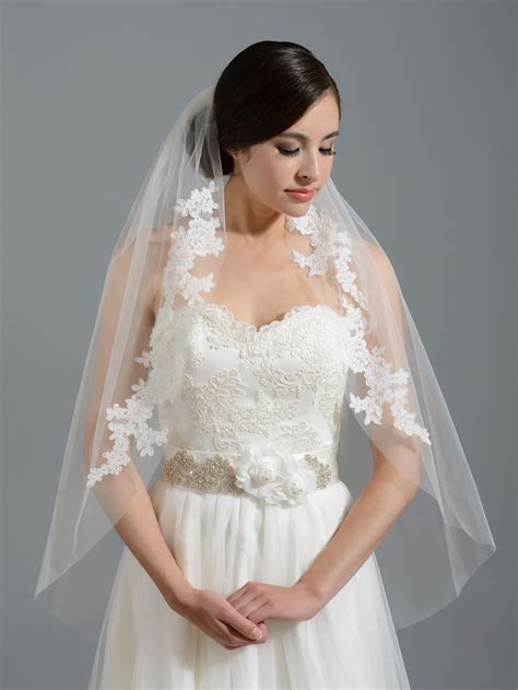 Bridal Veil by Ivory Wedding Veil V052 Alencon Lace