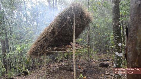 building  bed shed sleeping shelter primitive technology  kid