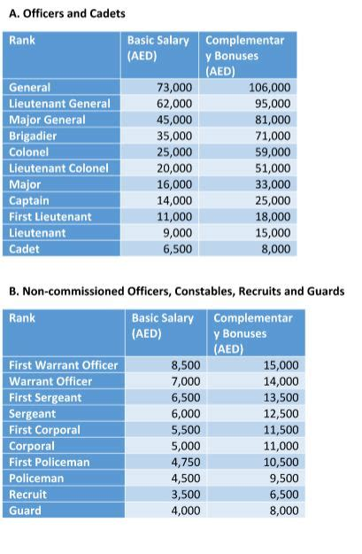 Mba Salary Per Month In Dubai by Keeping Uae Safe What You Will Earn Serving As
