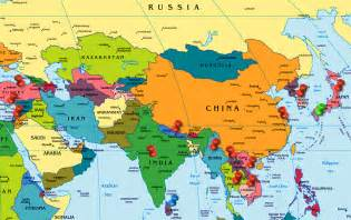 Asia On World Map by Gallery For Gt Where Is Asia On The World Map