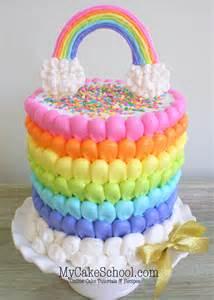 puffed rainbow cake free cake decorating video my cake