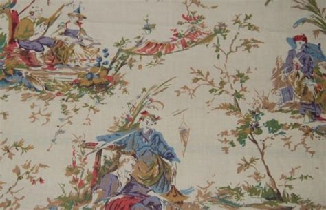 asian upholstery fabric prints toile china asia asian toile print heavy weight cotton