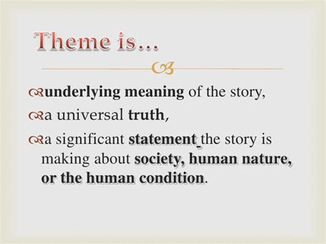 theme definition english exles theme and symbolism
