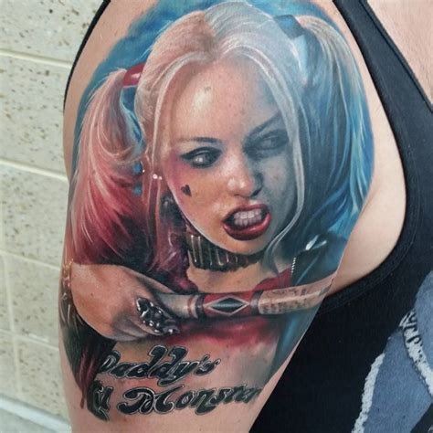 watercolor harley quinn tattoo harley quinn squad by kyle cotterman distinction