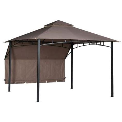 10 ft awning hton bay shadow hills 10 ft x 10 ft roof style garden