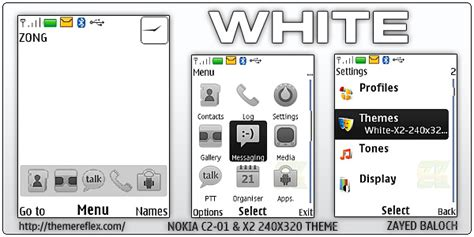 nokia c2 nth themes download white theme for nokia x2 c2 01 240 215 320 updated