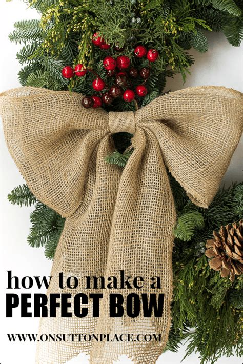 how to make the perfect christmas bow 10 decor ideas on sutton place