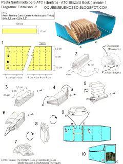 How To Make An Origami Booklet - o que 201 meu 201 nosso origami pasta sanfonada para atc