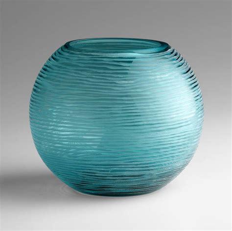 Large Aqua Vase Large Aqua Glass Vase By Cyan Design