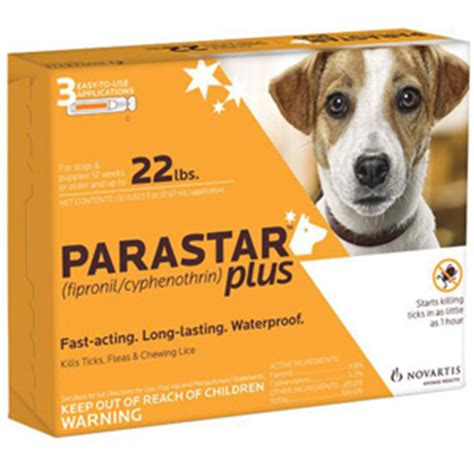 parastar for dogs parastar plus for dogs 0 22 lbs 3 pack vetdepot