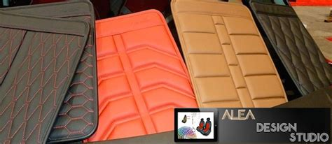 auto upholstery patterns alea leather introduces 3d diamond pleats