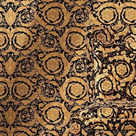 wallpaper versace gold versace home barocco flowers black gold luxury 70cm