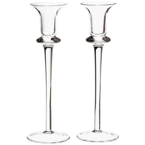 candelabros de cristal juego de 2 candelabros de cristal de 25cm de leonardo