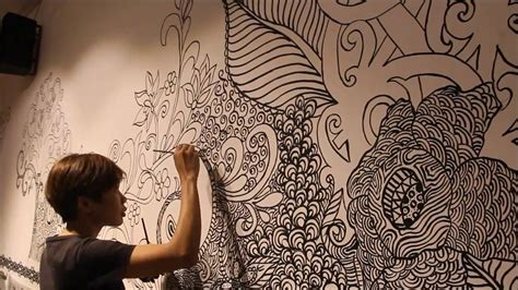 doodle on wall wall paint doodle