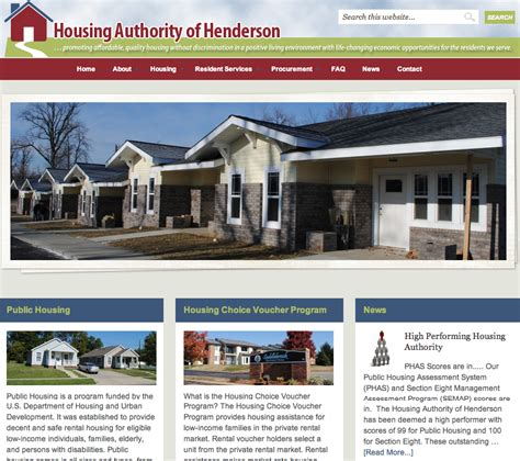 housing authority henderson ky hah website housing authority of henderson