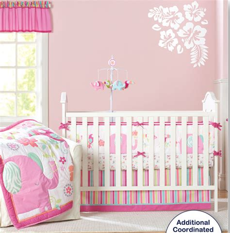 Cot Bedding Sets Pink 9 Pc Crib Infant Room Baby Bedroom Set Nursery Bedding Pink Elephant Cot Bedding Set For