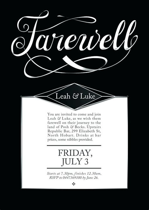 Farewell Party Invitation Template Free Spectacular Going Away Retirement Templates Printable Free Printable Invitation Templates Going Away