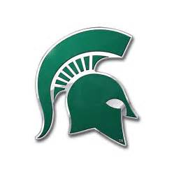 spartan colors michigan state spartans color emblem car or truck decal