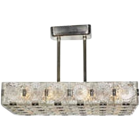 Large Rectangular Chandelier Large Mid Century Modern Rectangular Chandelier In Glass And Nickel For Sale At 1stdibs
