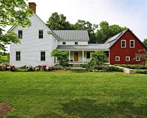 Vermont Farmhouse Attached Barn Home Design Ideas