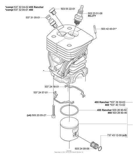 husqvarna 455 rancher parts diagram husqvarna 455 rancher 2005 03 parts diagram for piston
