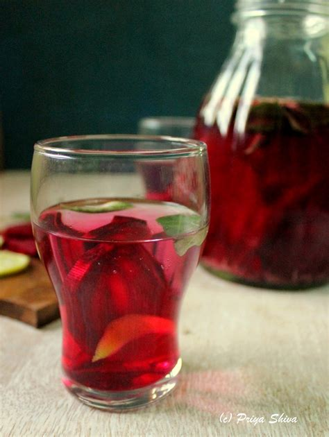 Detox Water Preparation by Beetroot Curry Leaves Detox Water Kitchenette