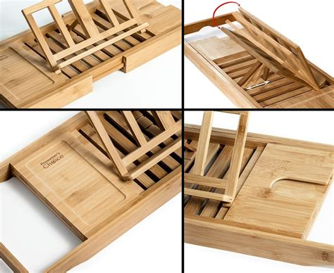 bathtub caddy tray natural bamboo bathtub caddy tray organizer with book