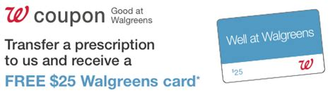 Transfer Prescription To Walgreens Gift Card - walgreens coupon 25 prescription transfer bonus southern savers