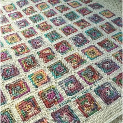 Patchwork Square Patterns - the patchwork my crofter blanket free pattern