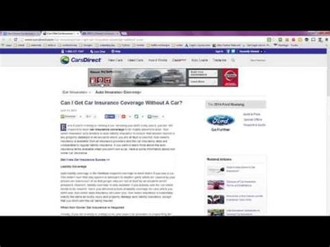 Non Owner Car Insurance Quote with Geico   Automobile