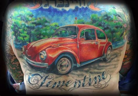 vw beetle tattoo designs car tattoos for ideas and inspiration for guys