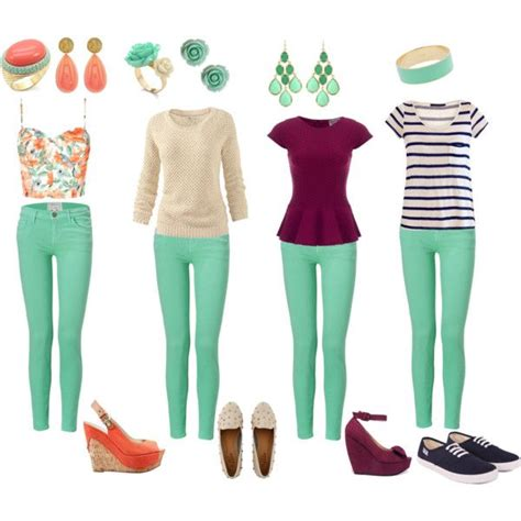 light colored skinny jeans quot how to wear mint jeans quot by kdurkin2243 on polyvore how