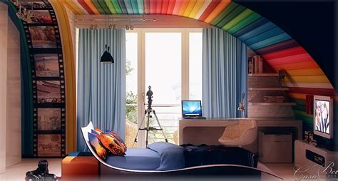 rainbow bedroom decor colorful kids rooms