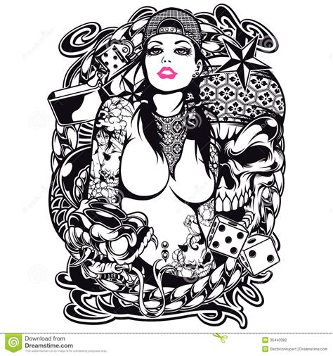 tattoo shirt design stock photography image 35443382